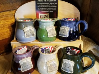 Franklin Street Inn mugs of various colors