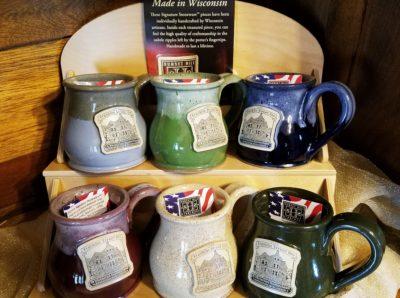Franklin Street Inn mugs of various colors