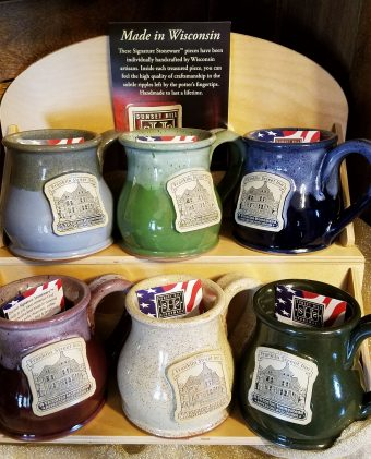Franklin Street Inn coffee mugs in various colors