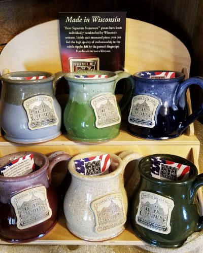 Franklin Street Inn coffee mugs in various colors